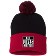 Load image into Gallery viewer, CustomCat Hats Red/Black / One Size All Lives Matter SP15 Pom Pom Knit Cap (12 Variants)