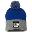 Load image into Gallery viewer, CustomCat Hats Royal/Heather Grey / One Size All Lives MAGA SP15 Pom Pom Knit Cap (12 Variants)