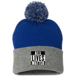 Load image into Gallery viewer, CustomCat Hats Royal/Heather Grey / One Size All Lives Matter SP15 Pom Pom Knit Cap (12 Variants)