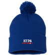 Load image into Gallery viewer, CustomCat Hats Royal / One Size 1776 Patriot SP15 Pom Pom Knit Cap (12 Variants)