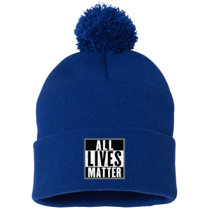 CustomCat Hats Royal / One Size All Lives Matter SP15 Pom Pom Knit Cap (12 Variants)