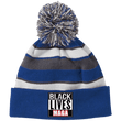 Load image into Gallery viewer, CustomCat Hats Royal/White / One Size All Lives MAGA Striped Beanie with Pom (8 Variants)