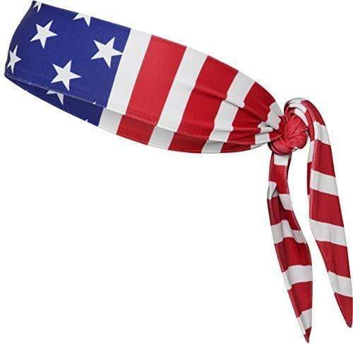 Monkey Movement Headband American Flag Tie Monkey Movement American Flag Head Tie Headband