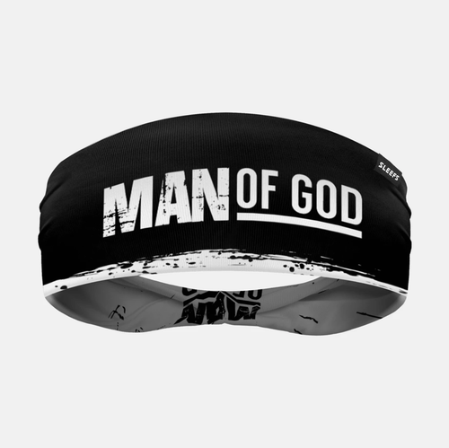SLEEFS Headband Black/White / One Size Man of God Black Double Sided Headband