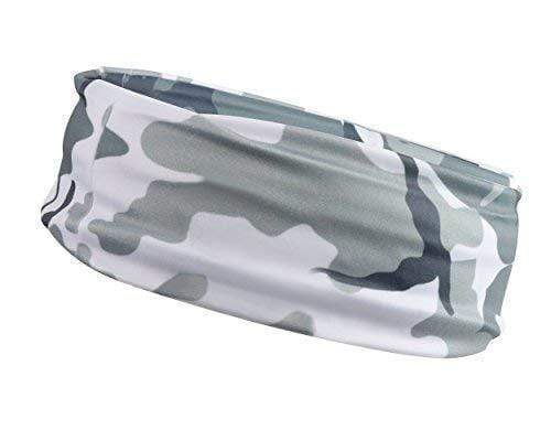 Monkey Movement Headband Camo Gray Camo Sweat-Wicking Headband / Bandana