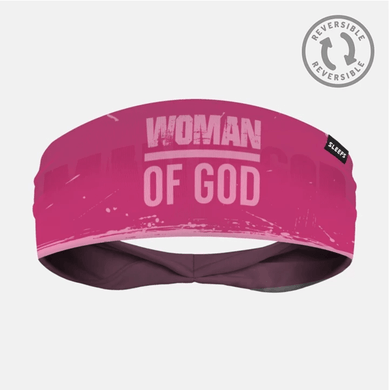 SLEEFS Headband Pink/Hot Pink / One Size Demario Davis' Woman Of God Reversible Headband (2 Variants)