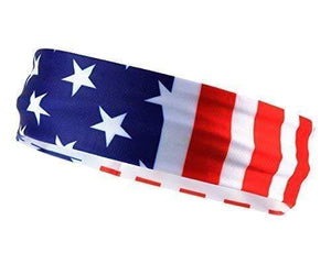 Monkey Movement Headband Red/White/Blue Patriots American Flag Unisex Sports Bandana