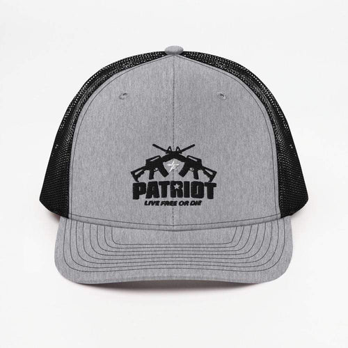 American Patriots Apparel Heather Grey / Black / OSFA Star Patriot Live Free Or Die 2nd Amendment Trucker Cap (5 Variants)