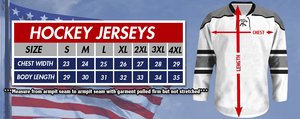 Print Brains Hockey Jersey Eagle America #1 Hockey Jersey