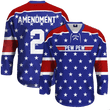 Load image into Gallery viewer, Print Brains Hockey Jersey Pew Pew Hockey Jersey / Royal Blue / S Pew Pew Hockey Jersey