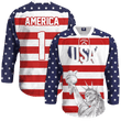 Load image into Gallery viewer, Print Brains Hockey Jersey USA Liberty Hockey Jersey / White / S USA Liberty Hockey Jersey