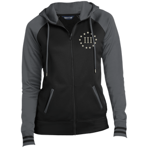 CustomCat Ladies Hoodie Black/Dark Smoke / XS III% LST236 Ladies' Moisture Wick Full-Zip Hooded Jacket (5 Variants)