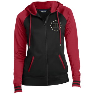 CustomCat Ladies Hoodie Black/Deep Red / XS III% LST236 Ladies' Moisture Wick Full-Zip Hooded Jacket (5 Variants)