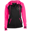 Load image into Gallery viewer, CustomCat Ladies Hoodie Black/Neon Pink / XS III% LST236 Ladies' Moisture Wick Full-Zip Hooded Jacket (5 Variants)