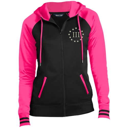 CustomCat Ladies Hoodie Black/Neon Pink / XS III% LST236 Ladies' Moisture Wick Full-Zip Hooded Jacket (5 Variants)