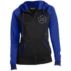 CustomCat Ladies Hoodie Black/True Royal / XS III% LST236 Ladies' Moisture Wick Full-Zip Hooded Jacket (5 Variants)