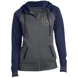 CustomCat Ladies Hoodie Dark Smoke/Navy / XS III% LST236 Ladies' Moisture Wick Full-Zip Hooded Jacket (5 Variants)