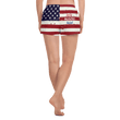 Load image into Gallery viewer, American Patriots Apparel Ladies Shorts American Girl Red White & Blue Athletic Short Shorts