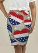 Load image into Gallery viewer, US Drop Ship Ladies Skirt XS / Red/White/Blue American Heart Stars and Stripes Pencil Skirt