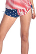 Load image into Gallery viewer, American Patriots Apparel Ladies Swimsuit American Flag / XL Women's Juniors String Shorts USA Flag Bikini Beach Swimwear