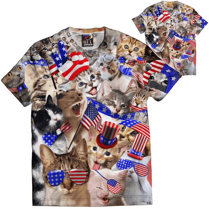 Print Brains Ladies T-Shirt Americats Tee / White / XS Americats Tee