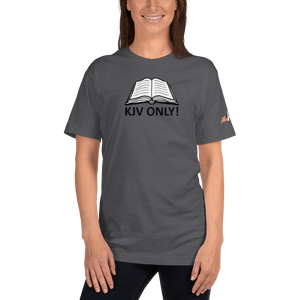 American Patriots Apparel Ladies T-Shirt Asphalt / S KJV ONLY! Psalm 12:6-7 Fine Jersey T-Shirt (16 Variants)