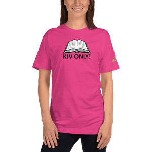 American Patriots Apparel Ladies T-Shirt Fuchsia / S KJV ONLY! Psalm 12:6-7 Fine Jersey T-Shirt (16 Variants)
