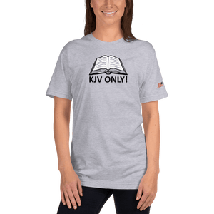 American Patriots Apparel Ladies T-Shirt Heather Grey / S KJV ONLY! Psalm 12:6-7 Fine Jersey T-Shirt (16 Variants)