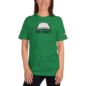 American Patriots Apparel Ladies T-Shirt Kelly Green / S KJV ONLY! Psalm 12:6-7 Fine Jersey T-Shirt (16 Variants)