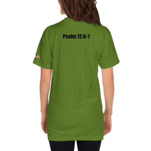 American Patriots Apparel Ladies T-Shirt KJV ONLY! Psalm 12:6-7 Fine Jersey T-Shirt (16 Variants)