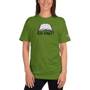 American Patriots Apparel Ladies T-Shirt Olive / S KJV ONLY! Psalm 12:6-7 Fine Jersey T-Shirt (16 Variants)