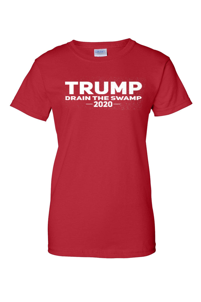 American Patriots Apparel Ladies T-Shirt Red / XL / FRONT Junior's Trump Drain the Swamp Short Sleeve Shirt (3 Variants)