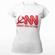 Load image into Gallery viewer, Right Wing Gear Ladies T-Shirt S / White Corrupt News Network Women's Cotton Tee Shirt (3 Variants)
