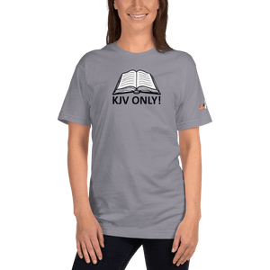 American Patriots Apparel Ladies T-Shirt Slate / S KJV ONLY! Psalm 12:6-7 Fine Jersey T-Shirt (16 Variants)