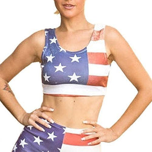 The Flag Shirt Ladies Tank Top M / Red/White/Blue American Flag Bralette Top
