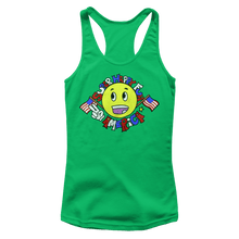 Load image into Gallery viewer, Print Brains Ladies Tank Top Next Level Women's Racerback Tank / Kelly Green / XS Super Happy Fun America Racerback Tank (12 Variants)