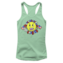 Load image into Gallery viewer, Print Brains Ladies Tank Top Next Level Women's Racerback Tank / Mint / XS Super Happy Fun America Racerback Tank (12 Variants)