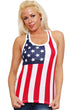 Load image into Gallery viewer, American Patriots Apparel Ladies Tank Top Red/White/Blue / Medium Women's USA Flag Tank Top Juniors Racer Back