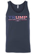 Load image into Gallery viewer, American Patriots Apparel LARGE / FRONT / Navy Unisex Trump USA Make America Even Greater Tank Top