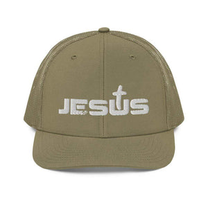 American Patriots Apparel Loden Jesus King of the Jews Cross White Text Snapback Hat (5 Variants)
