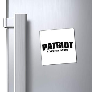 "Printify Magnet 3x3"" / White Patriot Live Free or Die Magnet (3 Sizes)"