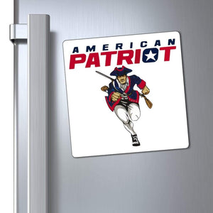 "Printify Magnet 6x6"" / White American Patriot Magnet (3 Sizes)"
