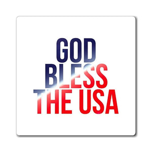 Printify Magnet GOD BLESS THE USA Magnet (3 Sizes)