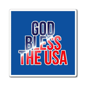 Printify Magnet God Bless The USA Royal Blue Magnet (3 Sizes)