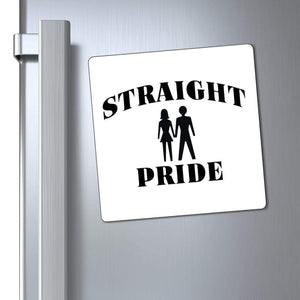 "Printify Magnet White / 6x6"" Straight Pride Magnet (3 Sizes)"