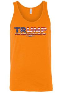 American Patriots Apparel MEDIUM / FRONT / Orange Unisex Trump USA Make America Even Greater Tank Top