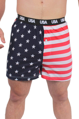 American Patriots Apparel Men's Boxers American Flag / XL Men's USA American Flag Patriotic Boxers
