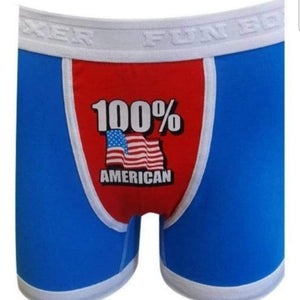The Flag Shirt Men's Boxers S / Red/White/Blue 100 Percent American Boxer Brief