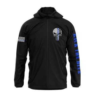 Greater Half Men's Coat Small / Black Thin Blue Line Rain Jacket
