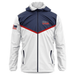 Load image into Gallery viewer, Greater Half Men's Coat Small / Red/White/Blue USA Rain Jacket